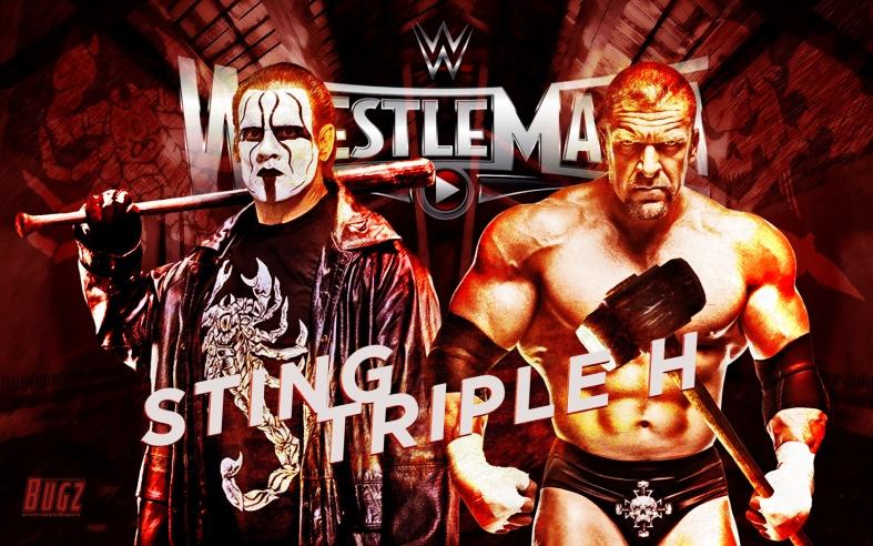 Sting Vs Triple H Wallpaper